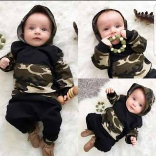 ❤INSTOCK❤ Ryan's Baby Camo Hoodies with Pants Set
