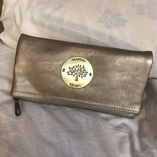Mulberry Gold clutch