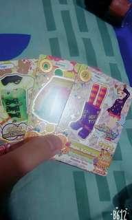 Card aikatsu(1 kartu 5000)kalau semua (15000)ada yang palsu