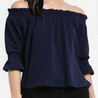 Cotton On Black Off Shoulder Top