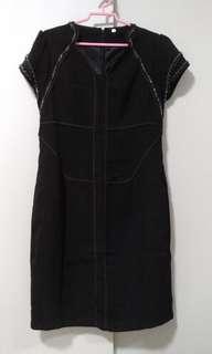 Brand New Cheongsam like black dress with beads