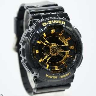 jam tangan D-Ziner Dual Time Waterresistan