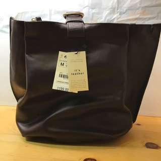 Zara - Leather Handbag 真皮手袋