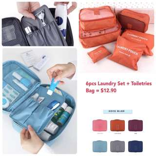 Travel Organiser + Toiletries Bag Set