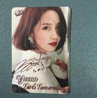 Yoona 簽名yes card
