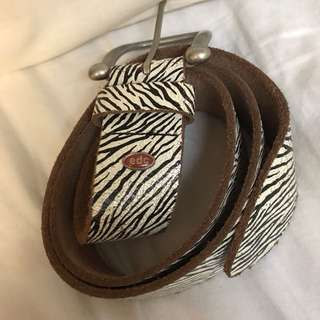 Authentic Esprit zebra patterned belt
