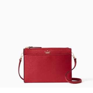 SALE Kate Spade Clarise Crossbody Slingbag Rosso Red Clutch
