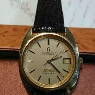 70年代Omega Constellation 金套自動日曆天文台錶