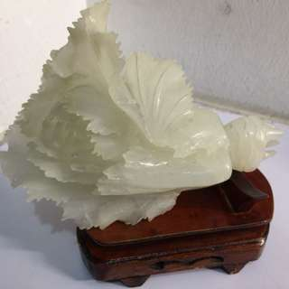 White Jade Cabbage with stand