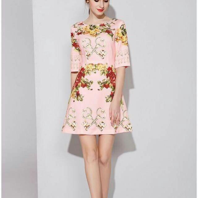 3d Full Elegant Floral Dress