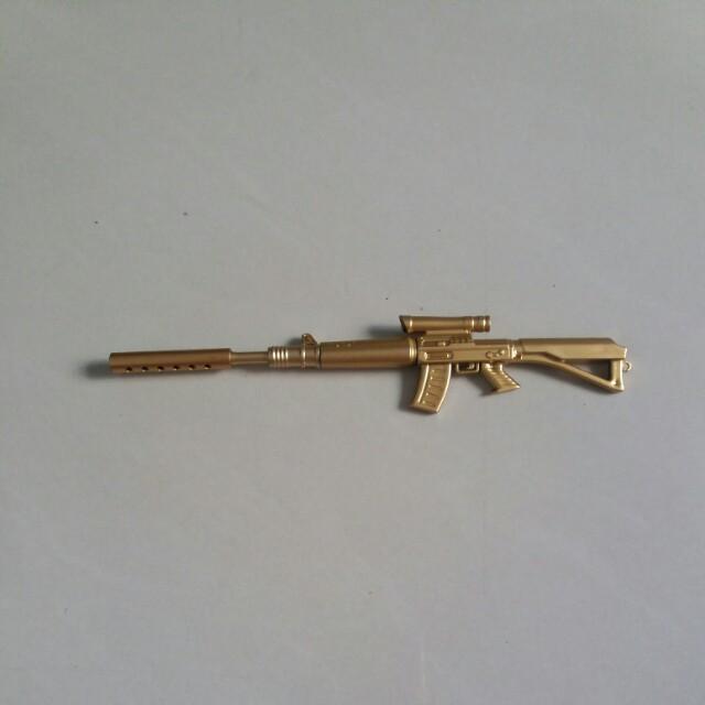 (全新)金色長槍型黑色原子筆