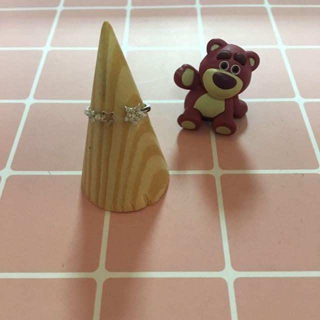 香港🇭🇰正生銀飾 星星可調式戒指