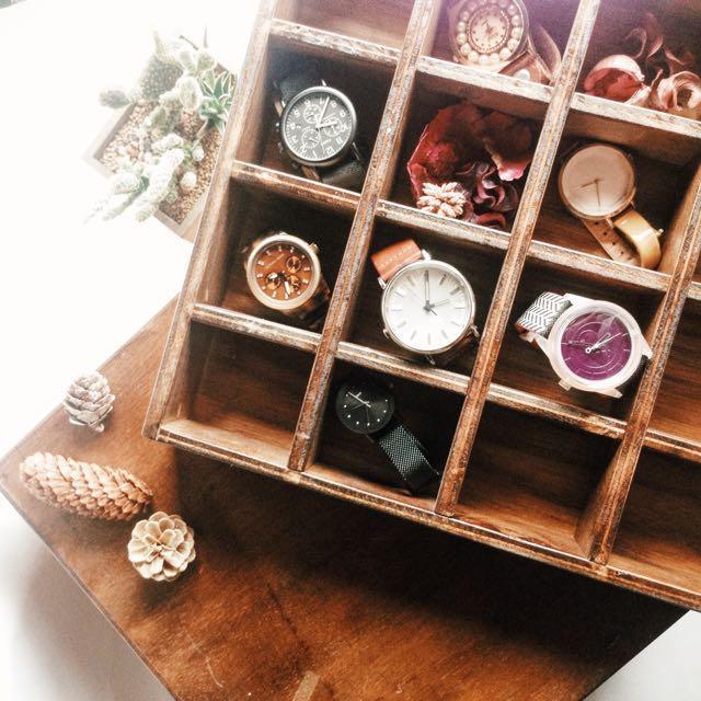 復古 仿古 飾品盒 飾品櫃 錶盒 置物櫃#9526