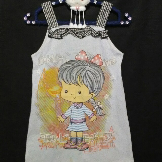 ❤ Kaos Baby Doll Glitter Anak Lucu