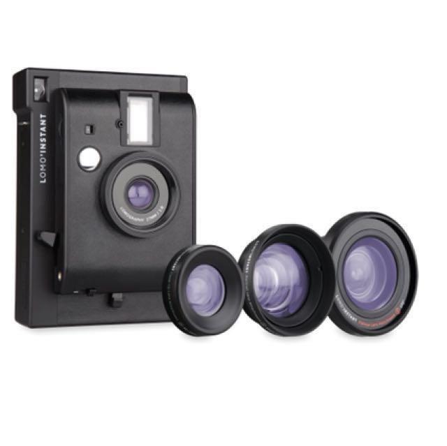 全新 Lomo拍立得底片相機 黑色