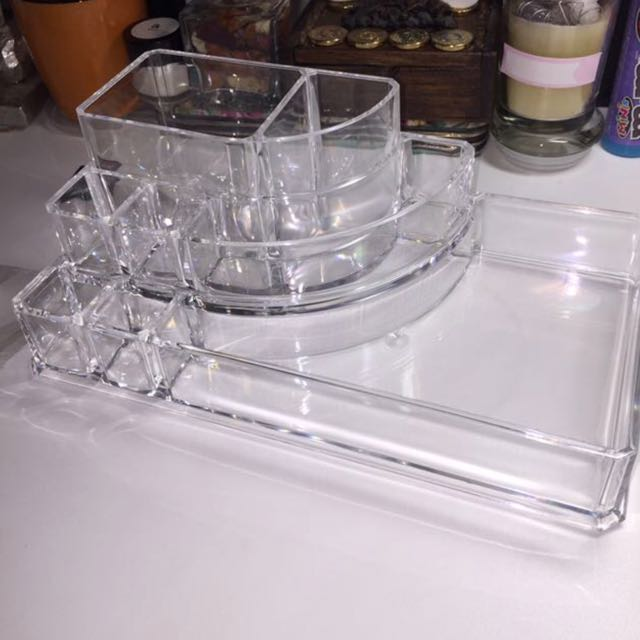 ACRYLIC MAKEUP ORGANISER CONTAINER