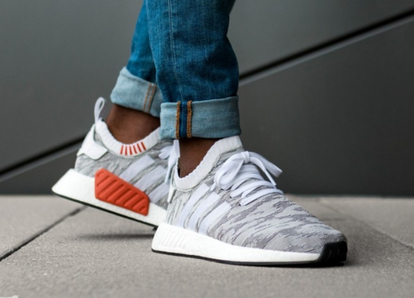 9e745a7e04128 Adidas NMD R2 PK - Future Harvest White Grey Orange