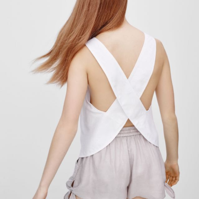 Aritzia Mistral Blouse in White Size Small