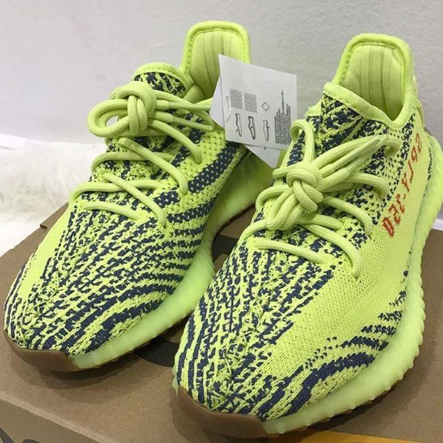 cf63352852caa Authentic Adidas Yeezy Boost 350 V2 Semi Frozen Yellow