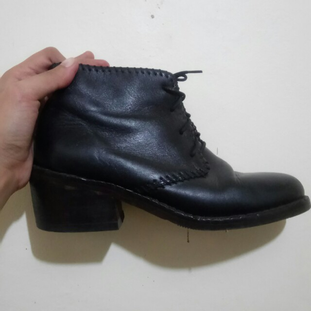 Authentic leather boots shoes