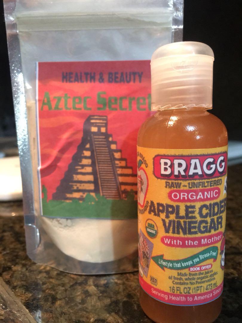 AZTEC SECRET INDIAN HEALING CLAY and BRAGG APPLE CIDER VINEGAR