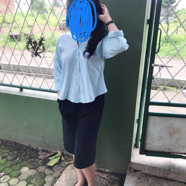 Baju stripe biru