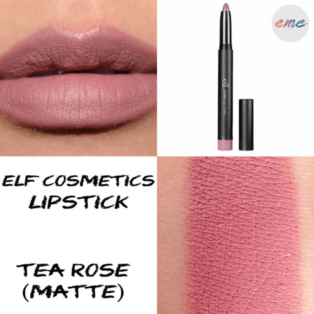 BN Elf Cosmetics Matte Lip Crayon - Tea Rose, Health & Beauty, Makeup on Carousell