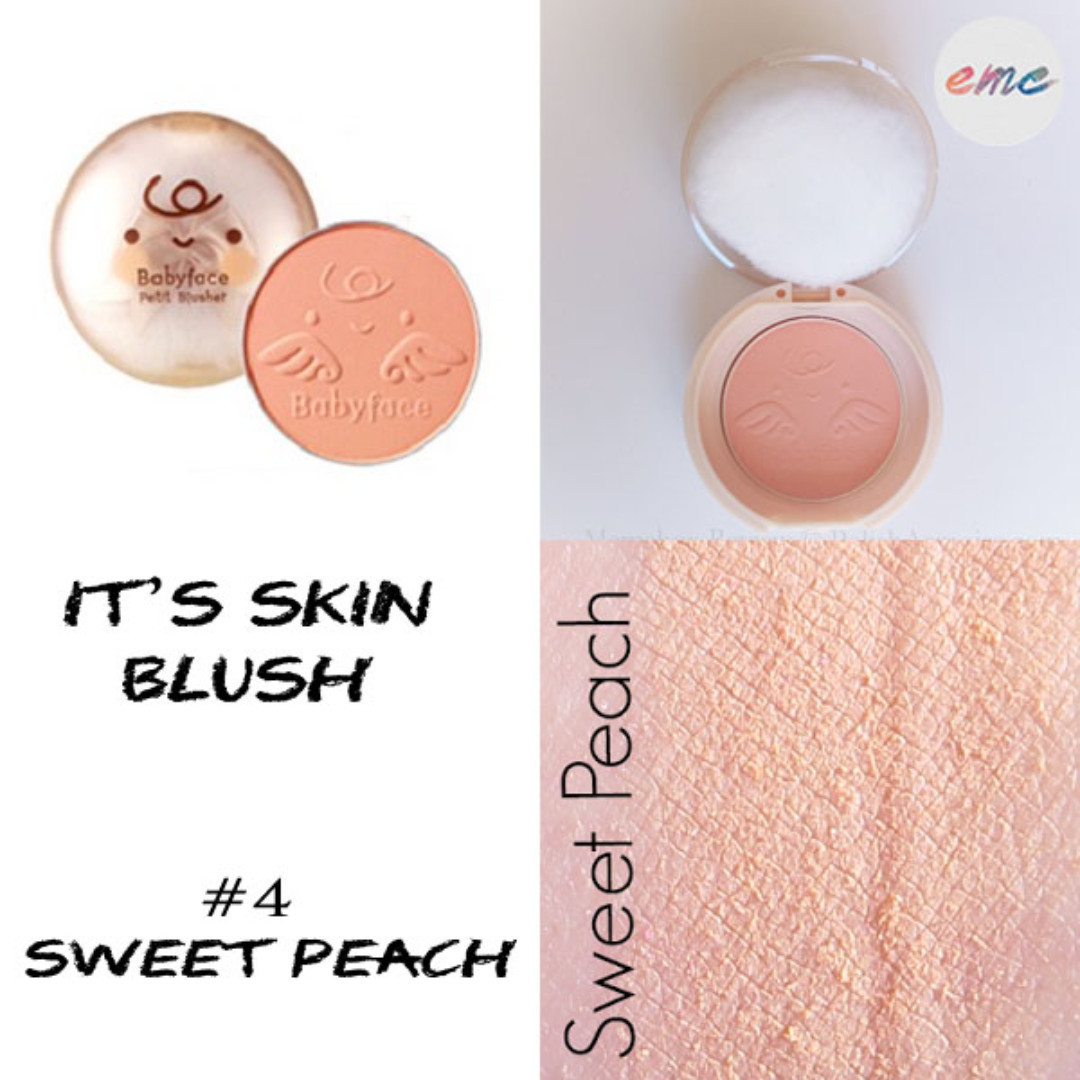 Bn It S Skin Babyface Petit Blusher 04 Sweet Peach Health Beauty Makeup On Carousell