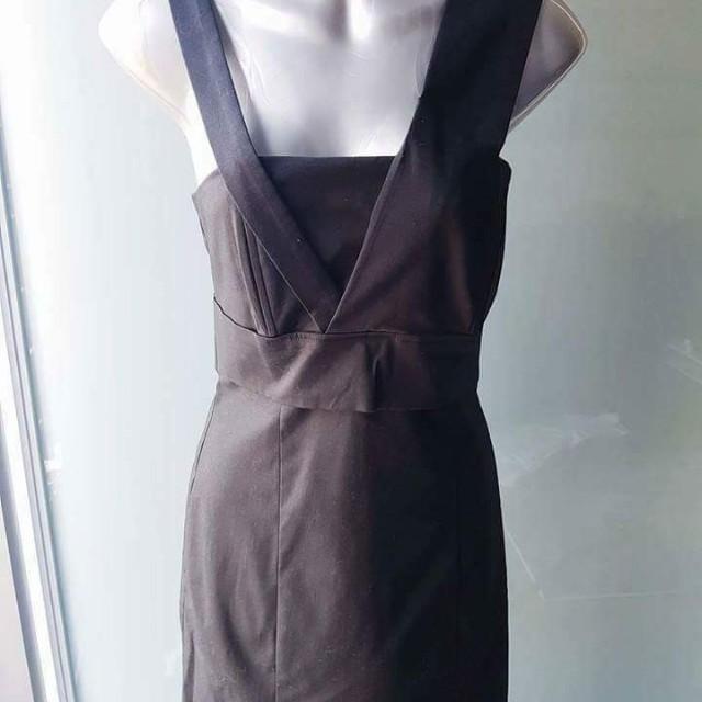 BNWT Mason Designer Asymmetrical Black Mini Dress - Size 2