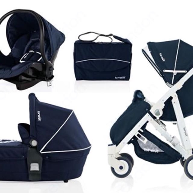 Brevi Stroller + Newborn carrier + Carseat + Bag