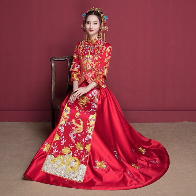 ae31b4d5b Chinese Wedding Dragon & Phoenix Qun Kwa (Long Feng Kwa) [FOR RENT ...