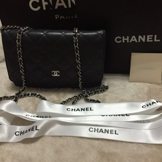 Classic Lambskin Chanel Wallet On Chain Bag