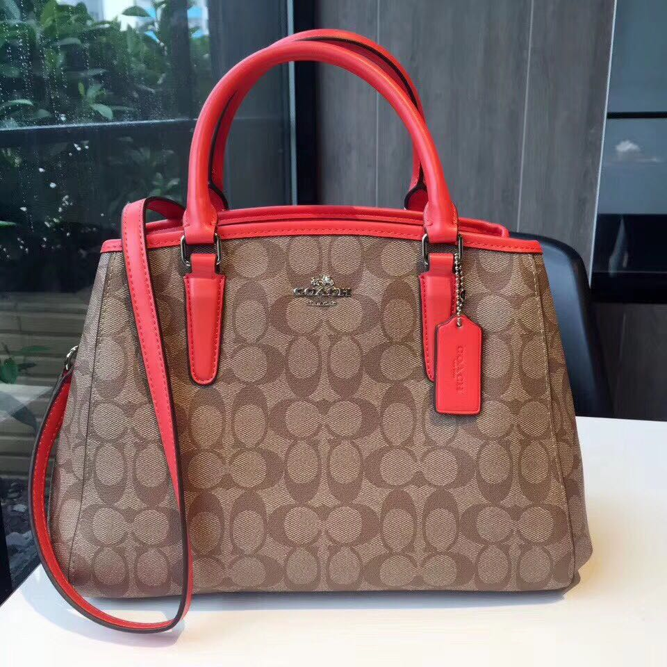 b283a131e358d ... 50% off coach small margot signature carryall satchel shoulder bag  luxury bags wallets on carousell