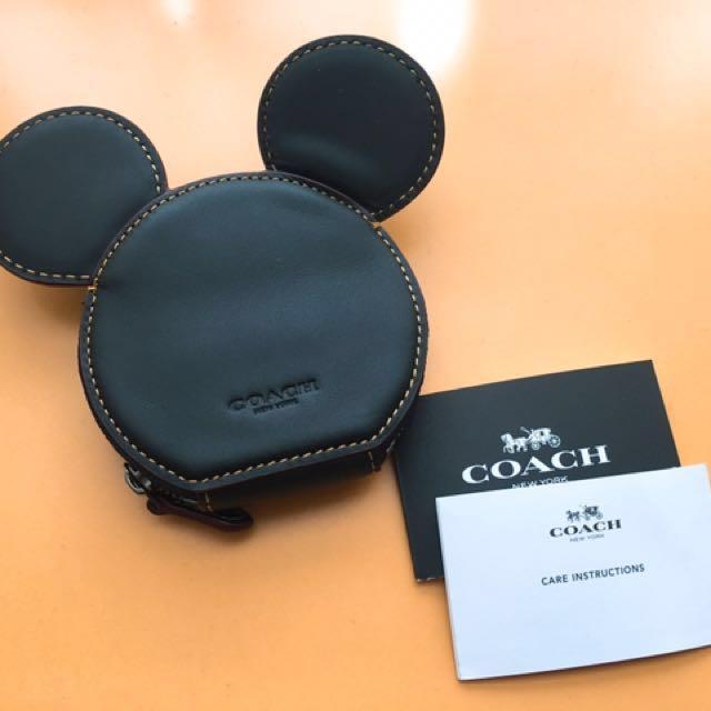 Coach X Disney 迪士尼聯名款米老鼠零錢包