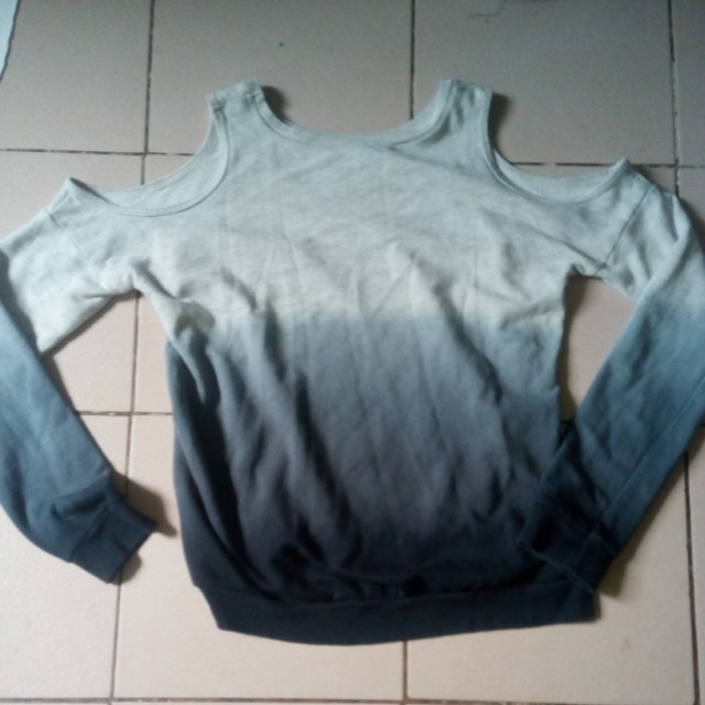 Cold shoulders sweater