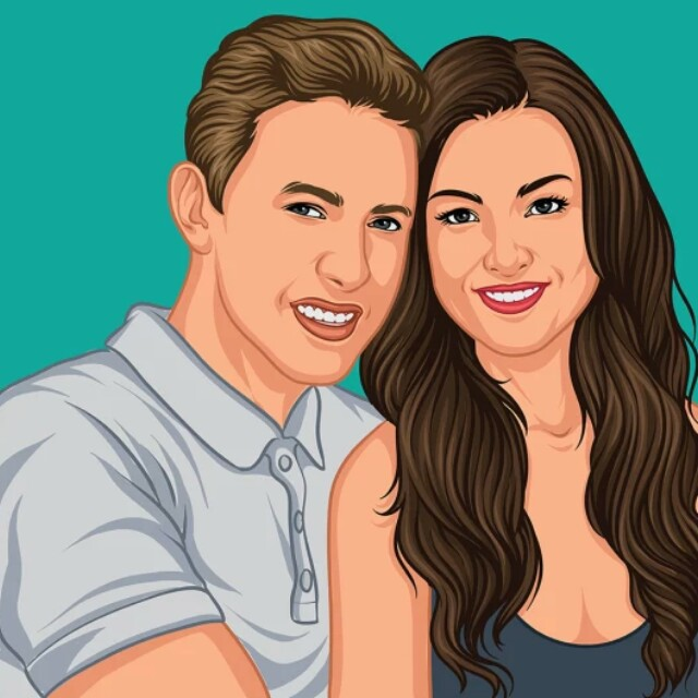 Couple Image Draw Your Photos Into Awesome Cartoon Everything Else