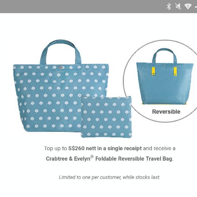 Crabtree & Evelyn Reversible Travel Bag