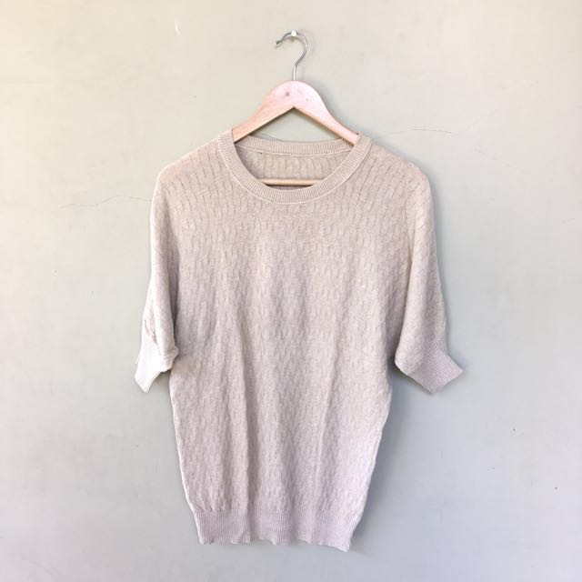 Creme Knitted Blouse