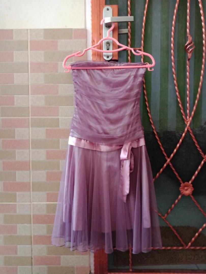 Dress kemben ungu