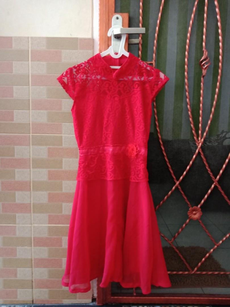 Dress Merah Shanghai