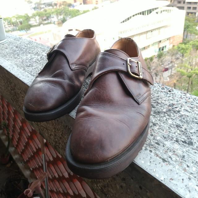 老英國Dr.martens  棕色 單扣孟克鞋 德比鞋 牛津鞋 皮鞋 英國製 馬汀 鞋 camper clarks