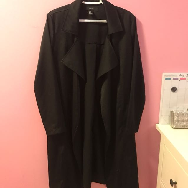 F21 Satin Trench Size Small
