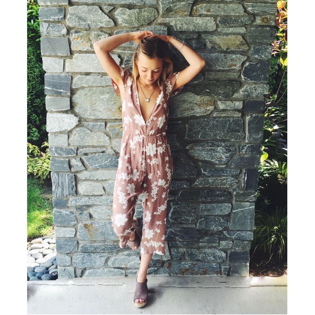 FOR LOVE & LEMONS / XS / 'Sweet Jane' Plunging Jumpsuit
