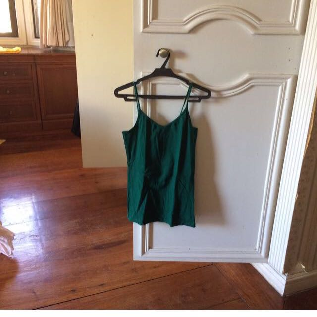 Forever 21 Spaghetti Strap Green Top Bodycon