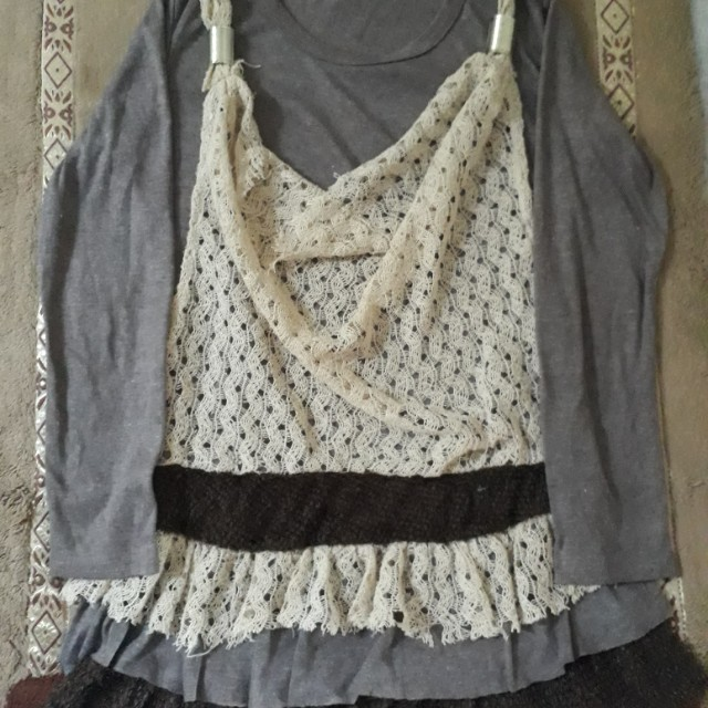 Girly shirt with lace