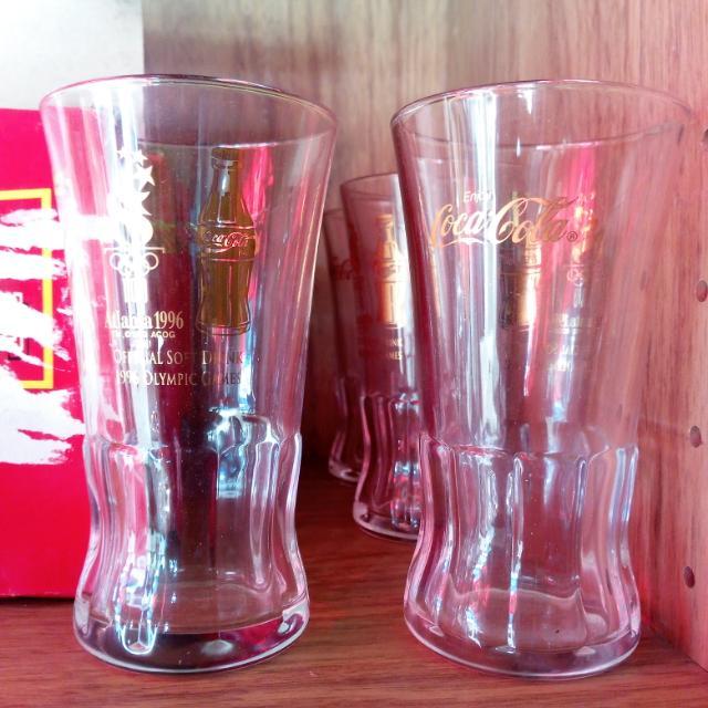 COLLECTIBLE GLASS Repriced!!!( Atlanta Olympic COKE GLASS 1996) JAPAN  4 Pcs  #coke,Coca-Cola,Cola, Olympicglass,Collectiblecokeglass
