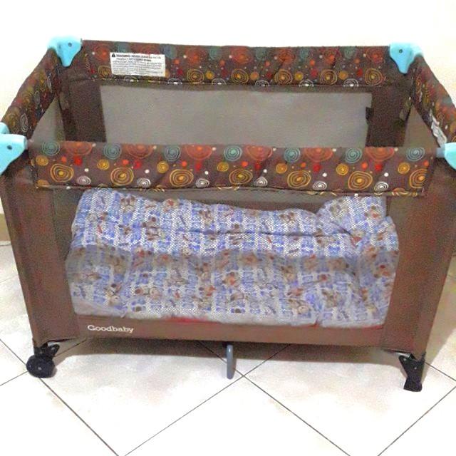Goodbaby Crib with free blue Bear Power Comforter