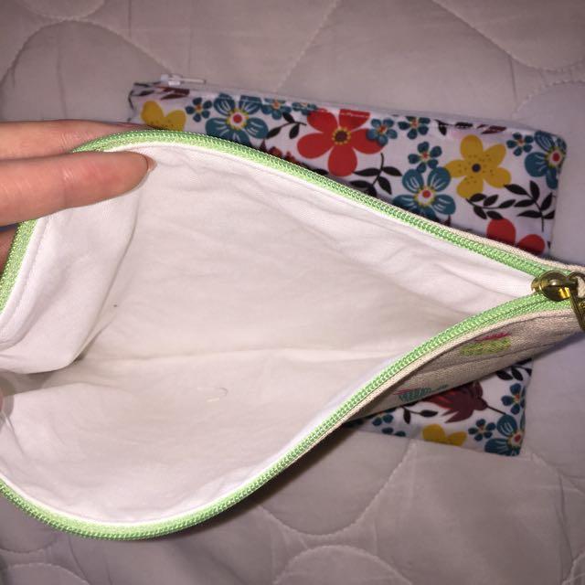 Handmade zippered pencil case bag