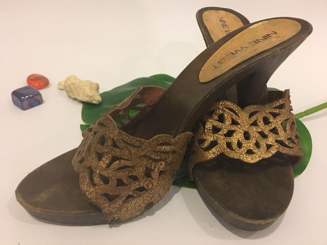 On Carousell Gold Sandals Heels Original J1fk3tlc Nine West nXOPk80w
