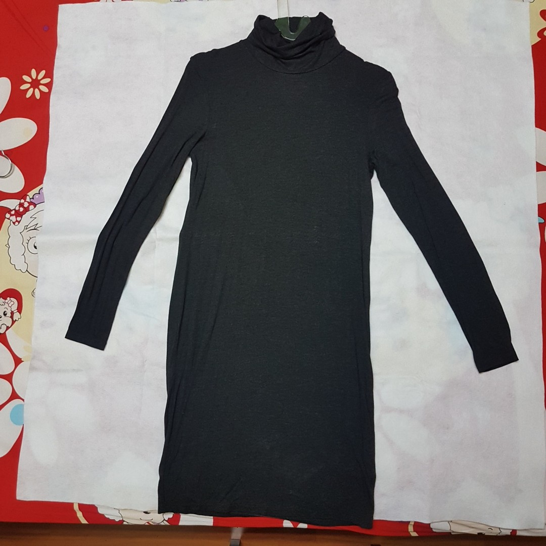 H&M Turtle Neck Grey Dress